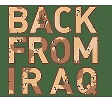 Back From Iraq - Iraq Vets Photographic Print