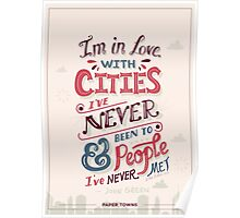 Paper Towns: Cities and People Poster