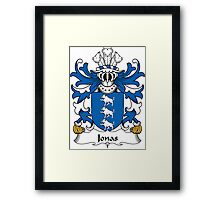 Jonas Coat of Arms (Welsh) Framed Print