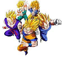 DBZ Super Saiyans Group  by ssgoshin4