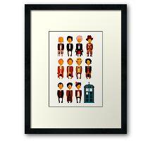 Doctor Who - Eleven Doctors Framed Print