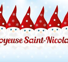 Saint Nickolas (6th December) with French text and 6 cute nicks by schtroumpf2510