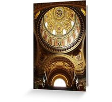 Interior of St Stephen's Basilica, Budapest Greeting Card