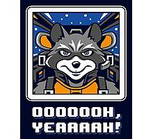 Star Raccoon Photographic Print