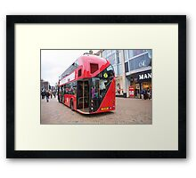 New London Bus Prototype in Bromley Kent. Framed Print