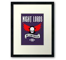 Night Lords VIII - Warhammer  Framed Print