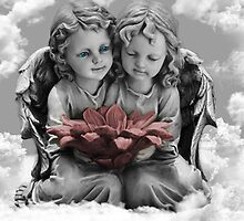 ✾◕‿◕✾ANGELS VIEW IN CLOUDS PILLOW AND OR TOTE BAG - PICTURE CARDS✾◕‿◕✾ by ╰⊰✿ℒᵒᶹᵉ Bonita✿⊱╮ Lalonde✿⊱╮