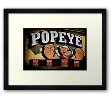 Popeye A Favorite Memory Of Mine Picture Card ect..15 SALES Framed Print