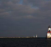 Michigan City Lighthouse by Adam Bykowski
