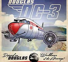 "WINGS Series ""DC-3"" by Pat McNeely"