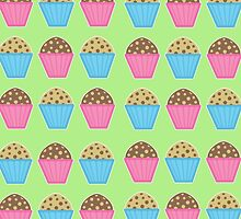 Muffins Greeting Card by Louise Parton