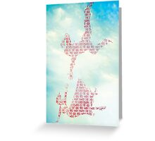 Bring us the girl and Wipe away the Debt. Greeting Card
