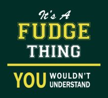 It's A FUDGE thing, you wouldn't understand !! by satro