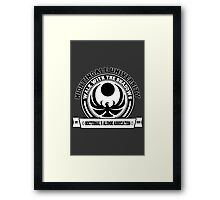 Nightingale University - Black Framed Print