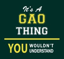 It's A GAO thing, you wouldn't understand !! by satro