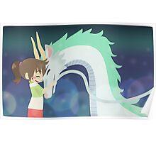 Spirited Away - Chihiro and Haku Poster