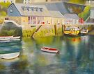Mevagissey harbour - Cornwall by Beatrice Cloake