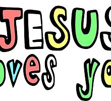 JESUS LOVES YOU by tshirtchristian