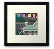 woman by road Framed Print