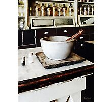Mortar and Pestle in Apothecary Photographic Print