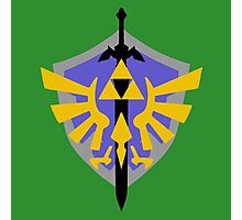 Triforce Shield and Sword Photographic Print
