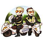 Motor cops by elizakaze