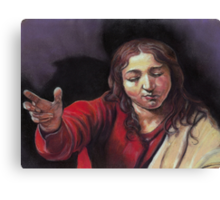 """Pastel study after Caravaggio's """"Supper at Emmaus"""" Canvas Print"""