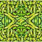 Green Beans Duvet by GolemAura