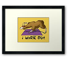Workout Llama Framed Print
