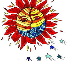 Sun and Moon Love Affair  by Deb Coats