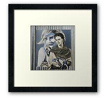 Mashup in Blue Framed Print