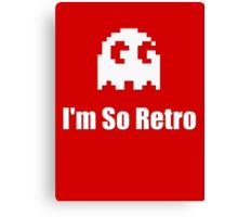 I'm So Retro - Atari - 80s Computer Game - Pacman T-Shirt Canvas Print