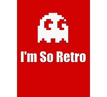 I'm So Retro - Atari - 80s Computer Game - Pacman T-Shirt Photographic Print