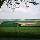 Countryside in Somme valley France 198405080060m by Fred Mitchell