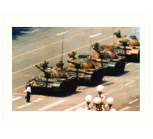 Tank Man Painting Art Print