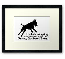 Bull Terrier Haiku Framed Print
