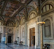The Opulent Loggia in Villa Farnesina, Rome, Italy - 2 by Georgia Mizuleva
