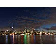 Toronto's Dazzling Skyline Across the Lake Photographic Print