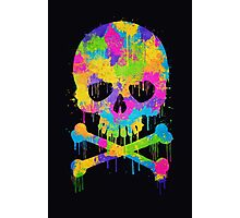 Abstract Trendy Graffiti Watercolor Skull  Photographic Print