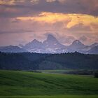 IDAHO TETONS AT SUNDOWN by Charlene Aycock IPA