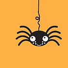 Cute hanging spider for Halloween by jazzydevil