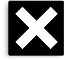 White X on Black Canvas Print