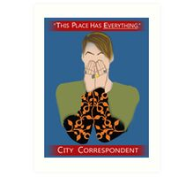 The City Correspondent Art Print