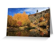 Autumn Reflections In The Susan River Canyon Greeting Card
