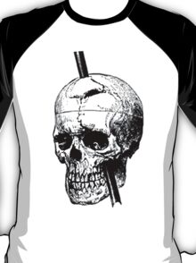 The Skull of Phineas Gage Vintage Illustration Vector T-Shirt
