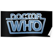 Doctor Who Classic Logo Future Black Poster