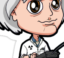 BTTF - Back to the Future 1985 Dr. Emmett Brown Doc Christopher Lloyd Chibi Sticker