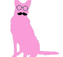 Stache Dog - Pink by 2woofs-1meow
