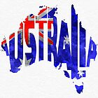 Australia Typographic World Map by A. TW