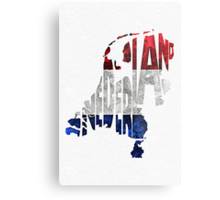 The Netherlands Typographic Map Flag Metal Print